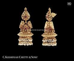 kerala style earrings kerala style gold pearl jhumka design kerala gold pearl and