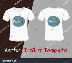 vector tshirt template male front back stock vector 303834122