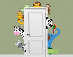 Nursery Wall Decals Animals by Jungle Safari Animal Decal Peeking Door Hugger Nursery Wall