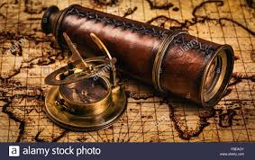 Ancient Map Old Vintage Compass On Ancient Map Stock Photo Royalty Free Image