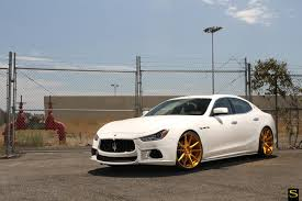 2015 maserati quattroporte custom saviniblackdiforza wheels bm12 in custom brushed gold on a