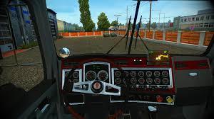 kenworth truck interior kenworth t800 interior dlc cabin u0026 flags v2 4 truck mod euro