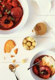 cuisiner les peches dans la cuisine de pêches et abricots rôtis au porto et à la