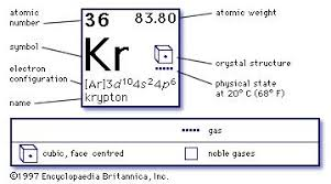 Oxidation Numbers On Periodic Table Krypton Kr Chemical Element Britannica Com