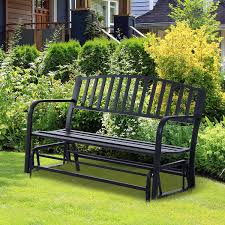 Garden Rocking Bench Outsunny 50 2 Seater Glider Bench Garden Rocking Chair Outdoor