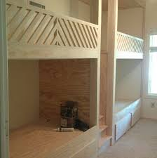 Plans For Loft Beds With Stairs by The Coolest Built In Bunk Beds And Diy Brass Hardware Little