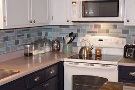 kitchen u shape kitchen decoration using white grey glass tile