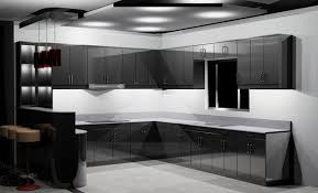 Black Gloss Kitchen Cabinets 15 Astonishing Black Kitchen Cabinets Home Design Lover