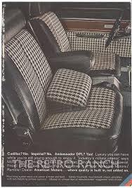 Car Seat Re Upholstery Ambassador Dpl Advertisement Houndstooth Check Upholstery Modern