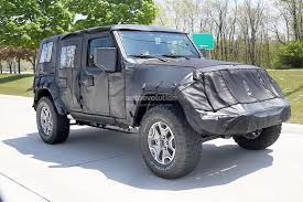 black jeep wrangler unlimited top off 2018 jeep wrangler jl spied shows new hardware autoevolution