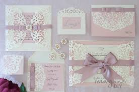 diy wedding invites how to make arabesque dusky pink wedding stationery imagine diy