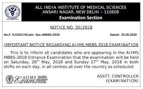 paper pattern of aiims aiims mbbs 2018 result answer key cutoff counselling