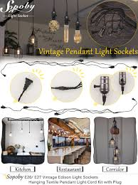 Pendant Light Socket E26 E27 Solid Industrial Light Sockets Sopoby Vintage