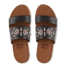muse shoes flats fitflop delta crystal leather slide