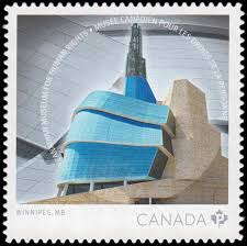 canadian museum for human rights postage stamp canada