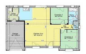 plan chambre plan et photos maison 2 chambres de 76 m