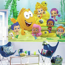 roommates 72 in x 126 in bubble guppies xl chair rail 7 panel