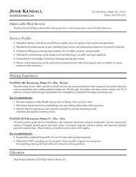 Sample Fast Food Resume by Download Food Server Resume Haadyaooverbayresort Com