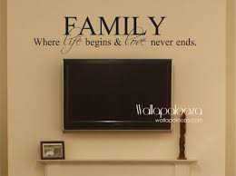 family where life begins and love never ends family wall decal zoom