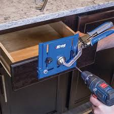 Installing Cabinet Hardware New Kreg Cabinet Hardware Jig Makes Installing Hardware Easier