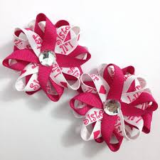 handmade hair bows pink white small hair bow set handmade shoc