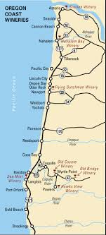 map of oregon wineries oregon coast wineries guide 2007 2008