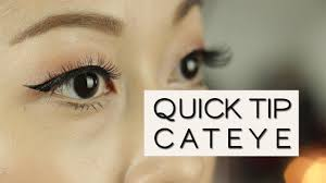 liquid eyeliner tutorial asian how to daytime to night time cat eye quick tip eyeliner for