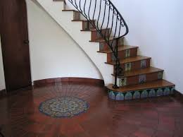 Art Deco Flooring Ideas by Ceramic Concepts Stair Risers And Medallion In Custom Hand