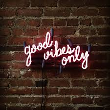 good vibes only mounted neon sign ready made by marcusconradposton