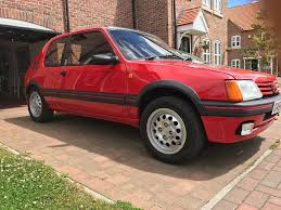 peugeot 205 peugeot 205 gti 1 6 in red u002789 modern classic hatch in