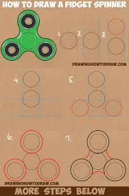 how to draw a fidget spinner easy step by step drawing tutorial