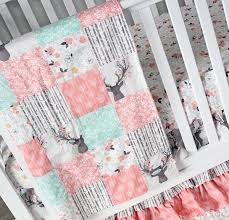 crib bedding woodlands stag nursery u2013 giggle six baby