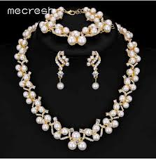 bridal earring necklace sets images Pearl bridal jewelry sets 2017 new wedding jpg