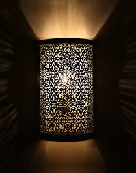 Moroccan Wall Sconce Moroccan Wall Light Silver Finish I Moroccan Pinterest
