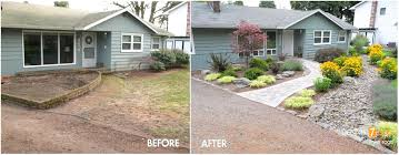 front house landscaping ideas including lush for your picture