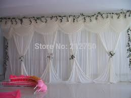 wedding backdrop curtains aliexpress buy white wedding backdrop curtain