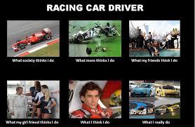 Race Car Meme - one hot lap racing car drivers explained