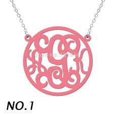 cheap monogram necklace online get cheap monogram acrylic necklace aliexpress