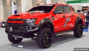 ranger ford 2018 ford ranger raptor aftermarket kit debuts in bangkok