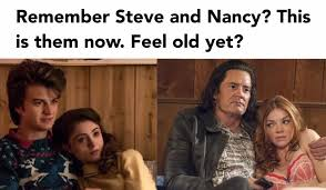 Nancy Meme - twin peaks meme steve and nancy from stranger things on bingememe