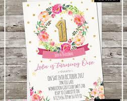 1st birthday invitation etsy uk