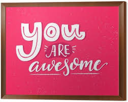 framed greeting cards you are awesome motivational saying inspirational quote design