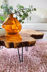 How To Make A Tree Stump End Table by Sourcing Materials For A Live Edge Coffee Table U2013 A Beautiful Mess