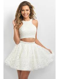 short a line high neck beaded bodice organza two piece homecoming