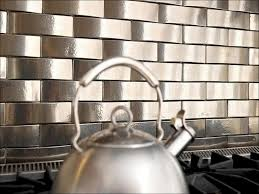 kitchen black stainless steel backsplash metallic wall tiles