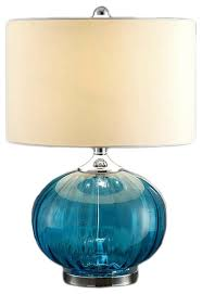 new port sea blue glass and metal table lamp 22