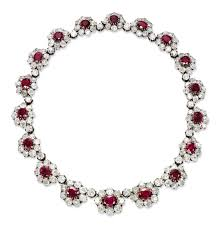 diamond necklace ruby images An important antique ruby and diamond necklace jewelry necklace jpg