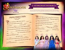 Printable Halloween Mad Libs by Disney Descendants Activity Sheets Food Crafts And Family