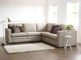 Light Laminate Flooring Light Grey Sofa With Cushions Also Floor Lamp Flower On Vase In