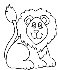 cute lion clipart black white